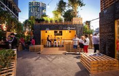 urban coffee farm pop up cafe during melbourne's food + wine festival - check out the long bar