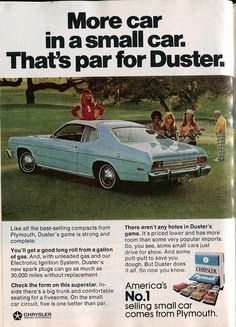 1974 Chrysler Plymouth Duster Advertisement Readers Digest… | Flickr - Photo Sharing!