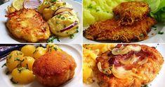25 nejlepších receptů na smažené řízky připravené na různé způsoby | NejRecept.cz Baked Potato, Potatoes, Baking, Ethnic Recipes, Food, Potato, Bakken, Bread, Meals