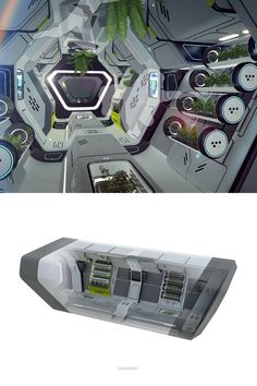 Super Ideas For Science Fiction Spaceship Interior Concept Art Spaceship Interior, Futuristic Interior, Spaceship Design, Spaceship Concept, Futuristic Design, Science Fiction, Mode Cyberpunk, Concept Art Landscape, Art Tutorial