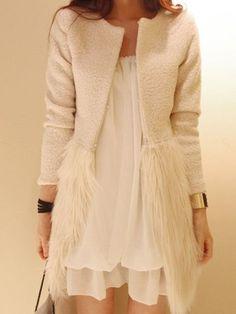 Splice Faux Fur Wool Coat – Belle Muse