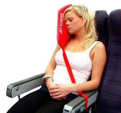Jetsleeper - this is a must for any long-haul flights. The pillow wont fall everytime you move..great idea.