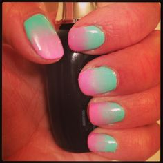 DIY ombre nails :D