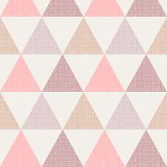 Textured Triangles Pink fabric by kimsa on Spoonflower - custom fabric