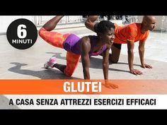 GLUTEI A CASA IN 6 MINUTI (SENZA ATTREZZI ESERCIZI EFFICACI) - YouTube Workout Motivation Music, Fitness Motivation, Real Fit, Hiit, Workout Videos, Personal Trainer, Squats, Pilates, Fitness Inspiration