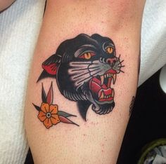 Traditional tattoo #panther