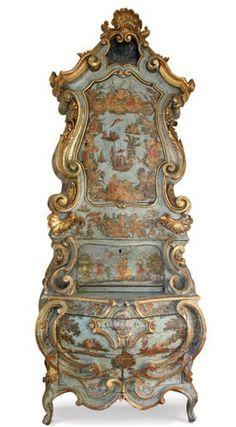 A 1712 Venetian bureau cabinet, image AD. Please like http://www.facebook.com/RagDollMagazine and follow @RagDollMagBlog @priscillacita