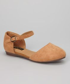 http://www.zulily.com/invite/vhanson979 Another great find on #zulily! Tan Buckle Vera Flat by Anna Shoes #zulilyfinds