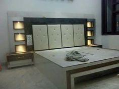 New Latest Bedroom Bed Design Ideas Latest Bedroom Design, Bedroom False Ceiling Design, Wardrobe Design Bedroom, Bedroom Closet Design, Bedroom Furniture Design, Bed Furniture, New Bed Designs, Double Bed Designs, Bad Room Design