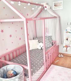 56 ideas for kids room bed ikea Baby Bedroom, Baby Room Decor, Girls Bedroom, Cama Ikea, Ikea Bed, Ikea Kura, Little Girl Bedrooms, Big Girl Rooms, Toddler Rooms