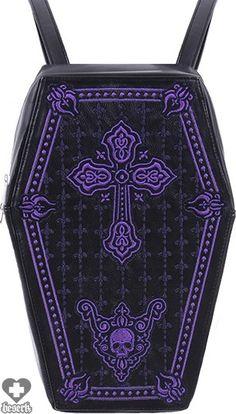 Restyle - Coffin Purple Handbag - Buy Online Australia Beserk