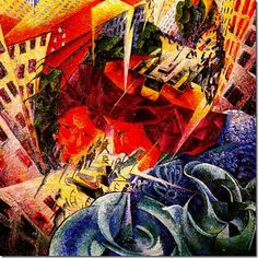 Visions by Umberto Boccioni Date: Milan, Italy Style: Futurism Genre: cityscape Location: Von der Heydt Museum, Wuppertal, Germany Dimensions: x cm Art And Illustration, Illustrations, Wuppertal Germany, Umberto Boccioni, Italian Futurism, Futurism Art, Lascaux, Famous Abstract Artists, Italian Painters