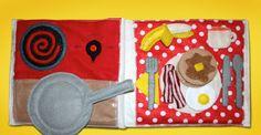 Let's Cook Breakfast Quiet Book Page