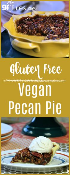 This gluten free vegan pecan pie lacks nothing in flavor, aroma & texture. You'd never know it's missing traditional ingredients like eggs, gluten and Karo!