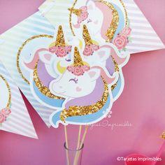 Nuevos imprimibles con Unicornio en tonos pasteles y dorado simil glitter. Para crear una fiesta llena de magia y súper especial para las nenas de la casa. Te invito a ver todos los detalles y precios en mi tienda online http://tarjetasimprimibles.com/197-unicornio #unicornio #unicornios #magicalunicorn #unicornprintable #unicorn #kitimprimible #ideasparafiestas #tarta #fiestadeunicornio #partyideas #tarjetas #imprimibles #cumpleaños #babyshower #candybar #partydecoration