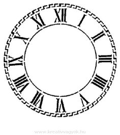 free clock face printables - Google Search