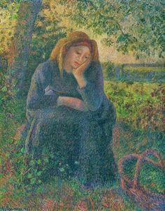Camille Pissarro 1830 - 1903 Seated Peasant, 1892