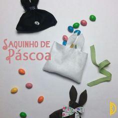 Um ótimo presente e super rápido de fazer!  www.osbotoesdabruna.com #osbotoesdabruna #amor #costura #costurafacil #saquinho #pascoa