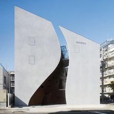 Image 2 of 22 from gallery of Sunwell Muse Kitasando / Takato Tamagami and Tsutomu Hasegawa. Photograph by Masaya Yoshimura Architecture Design, Facade Design, Amazing Architecture, Factory Architecture, Asian Architecture, Concrete Architecture, Architecture Graphics, Contemporary Architecture, Wood Interiors