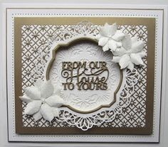 From our House To Word Shape Metal Cutting dies Scrapbooking Album Handcrafts Embossing DIY Paper card Making Models Stencils(China) Scrapbooking, Scrapbook Albums, Diy Scrapbook, In China, Christmas Cards To Make, Xmas Cards, Christmas Ideas, Poinsettia Cards, Sue Wilson