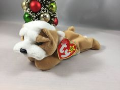 11e58ef6f9f Wrinkles the Bulldog Plush TY Beanie Baby Stuffed Vintage Toy
