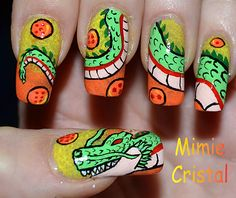 My wish to the Dragon would be if I could have these nails! Because I cannot do these!