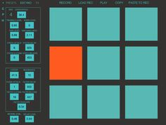 Turquoise DS - Free Drum Synthesizer For iPad