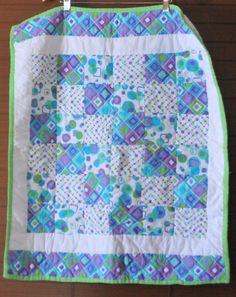 Super Fun Geometric Print Baby / Child Quilt #205 by PBandJ on Etsy