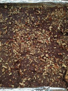 **Bourbon Pecan Saltine Bark- this had good flavor but was not a crisp candy...more gooey