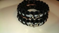 """Thin Gray Line"" Correctional Officer Paracord Bracelet with handcuffs  #handmade"