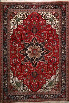 "Tabriz Persian Rug, Buy Handmade Tabriz Persian Rug 6' 8"" x 9' 10"", Authentic Persian Rug"