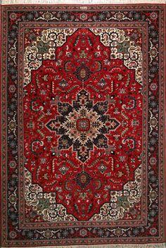 "Tabriz Persian Rug, Buy Handmade Tabriz Persian Rug 6' 8"" x 9' 10"", Authentic Persian Rug"