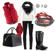 """Black & Red"" by marsers on Polyvore"