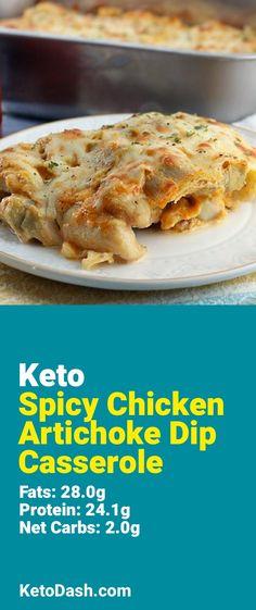 Spicy Chicken Artichoke Dip Casserole