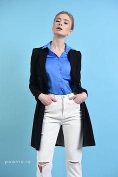 White Jeans, Blouses, Casual, Pants, Fashion, Poem, Trouser Pants, Moda, Fashion Styles