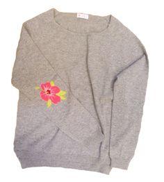 30214-108 / Colour: Silver - hawaii flower patch / Brand: herzensangelegenheit / Size: 38 ***100% Cashmere #musthave #flowerprint