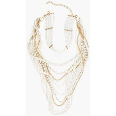 Chico's Pia Convertible Choker ($99) ❤ liked on Polyvore featuring jewelry, necklaces, pearl, choker jewellery, multiple chain necklace, multi-strand necklaces, choker necklaces and chicos jewelry