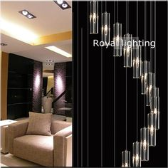 UMEI™ 7-Light Cluster Pendant Light Ambient Light - Crystal, LED, 90 ...