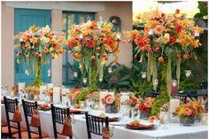 Flower arrangements Orange theme