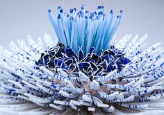 Shards Flowers: Porcelain Sculptures by Zemer Peled