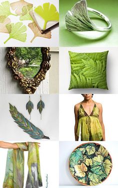 """☛""""Leaf.Me Alone"""" Treasury by http://www.etsy.com/shop/paroliro features rustic and fairy woodland leafy leaves inspired accessories and home decor offerings.  [*Please click on image to see all 16 items I chose and to travel to Etsy for details on all.]☚--Pinned with TreasuryPin.com"""
