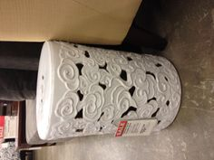 World market - > I like the fact that this stool is designed with swirl/flowers instead of the typical asia motif