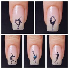 Figure Skating Nail Tattoos by JJNailDesign on Etsy