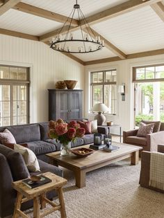 traditional pacific northwest style in a cozy neutral living room | coco kelley