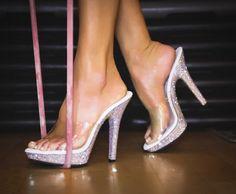 Clear bikini posing heels competition shoes npc ifbb wnbf Nsl Ifpa opa stage heels