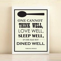 'Virginia Woolf, Dined Well' print poster