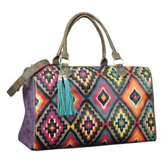 Aztec Print Catchfly Weekender Bag