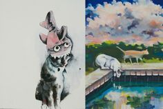ART + DESIGN | Moggies turn muse at the world's biggest exhibition of cat art in Los Angeles - The Cat Art Fair #cat #cats #catlovers #art #losangeles #events #la #cute #pets