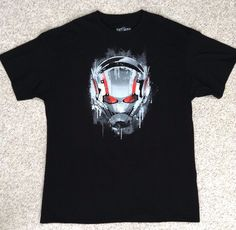 New Mens(XL) ANT-MAN T-SHIRT Black&White/Gray/Red Antman Marvel Comics Adult NWT #Marvel #GraphicTee
