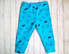 Paper boat harem pants for boy organic cotton by IndigoUA on Etsy
